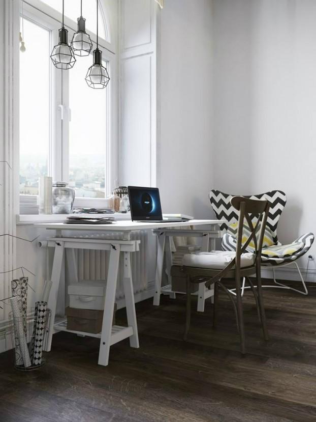 Sử dụng màu vàng táo bạo cho căn hộ chuẩn phong cách Scandinavia tạo bất ngờ lớn - Ảnh 6.