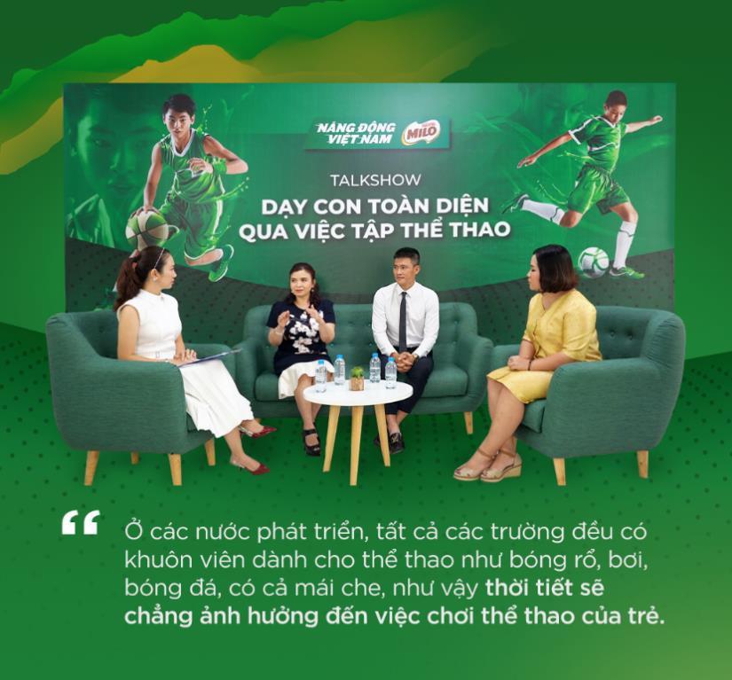 Công Vinh, Thanh Thảo cùng các chuyên gia chia sẻ cách dạy con phát triển toàn diện thông qua chơi thể thao - Ảnh 1.