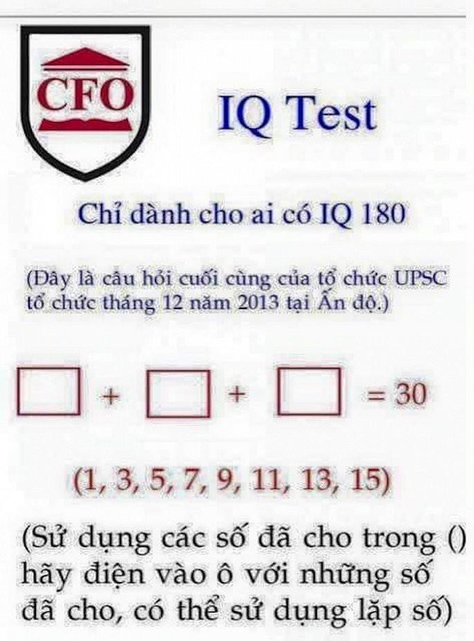 Bài toán về dãy số lẻ chỉ dành cho người có IQ 180 - Ảnh 1.