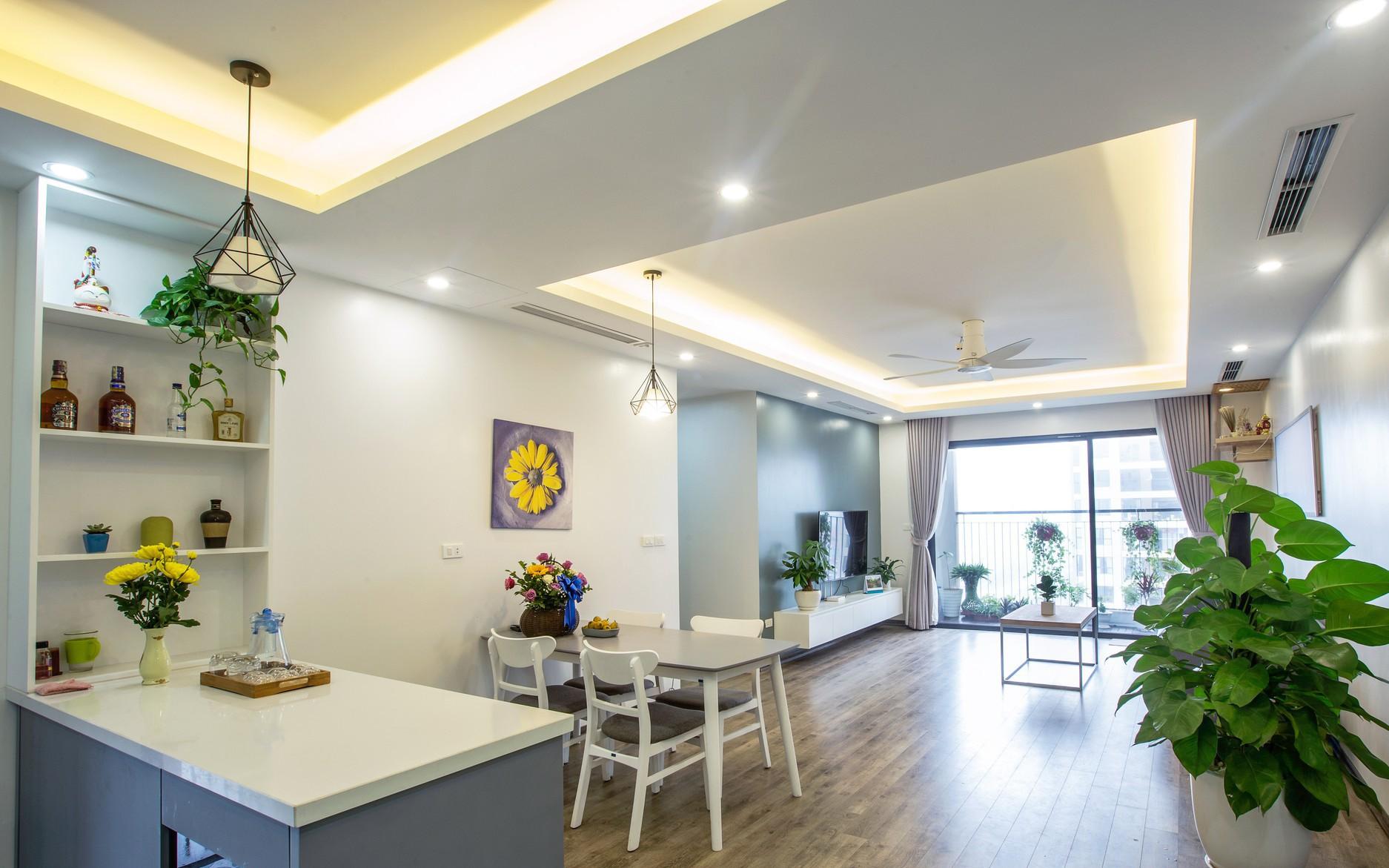 Căn hộ 100m² gây ấn tượng theo phong cách đương đại có tổng chi phí 260 triệu đồng ở Long Biên, Hà Nội