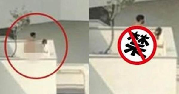 Đeo mặt nạ để mây mưa đỡ bị ai nhận ra, cặp đôi vẫn khiến dân tình nóng mặt vì hành sự ngay trên sân thượng của bảo tàng - Ảnh 1.