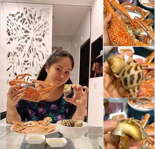 Cư dân mạng phản ứng gay gắt khi Lê Phương vừa sinh xong đã ăn hải sản, nhân vật chính vội thanh minh ngay - Ảnh 1.
