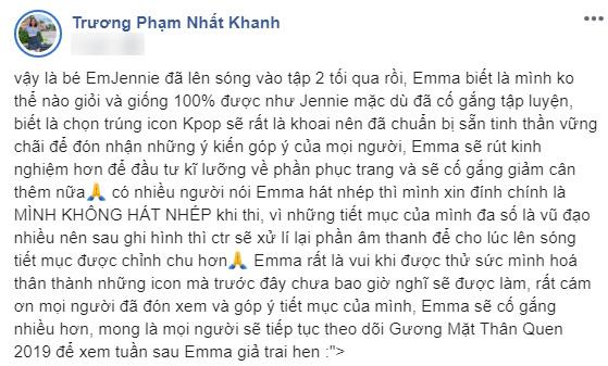 Bị fan BLACKPINK nghi hát nhép, chê bụng mỡ khi đóng giả Jennie, Emma Nhất Khanh lên tiếng đáp trả - Ảnh 6.