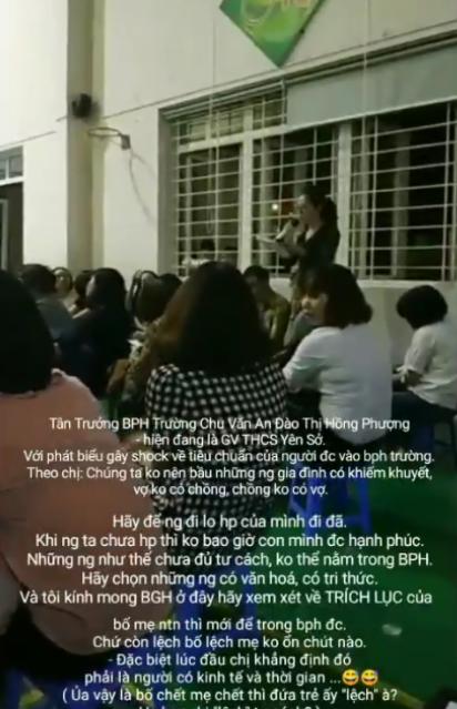 Hội trưởng hội phụ huynh với lời phát biểu sốc kỳ thị cha mẹ đơn thân khiến cha mẹ học sinh phẫn nộ - Ảnh 2.