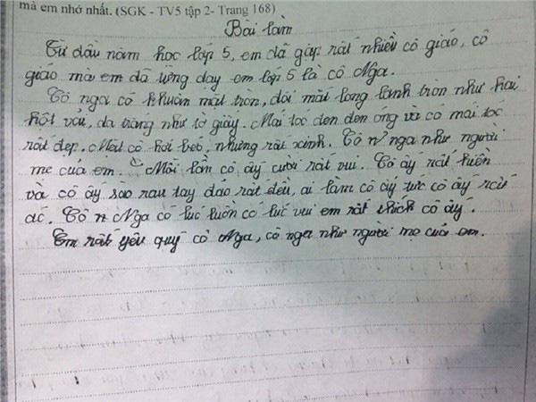 Nhân ngày 20-11, cùng điểm lại những bài văn tả cô giáo ngây ngô, khiến dân mạng cười chảy cả nước mắt của các học sinh tiểu học - Ảnh 2.