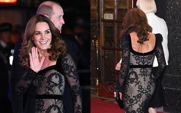 Mặc váy ren khoe tấm lưng trần đầy táo bạo, Công nương Kate khiến chồng chủ động yêu chiều và làm cộng đồng mạng điêu đứng - Ảnh 1.