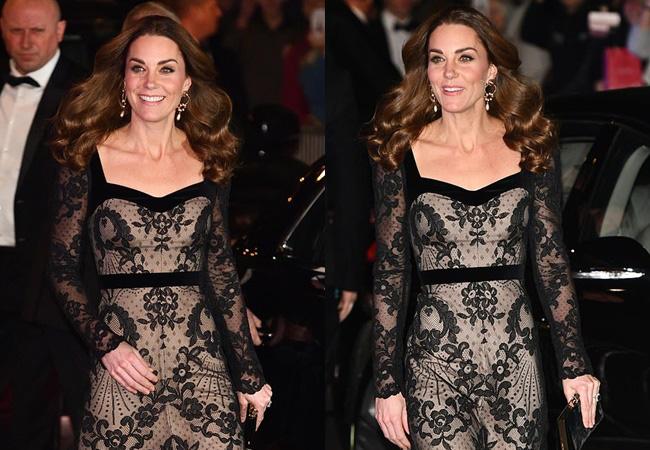 Mặc váy ren khoe tấm lưng trần đầy táo bạo, Công nương Kate khiến chồng chủ động yêu chiều và làm cộng đồng mạng điêu đứng - Ảnh 2.