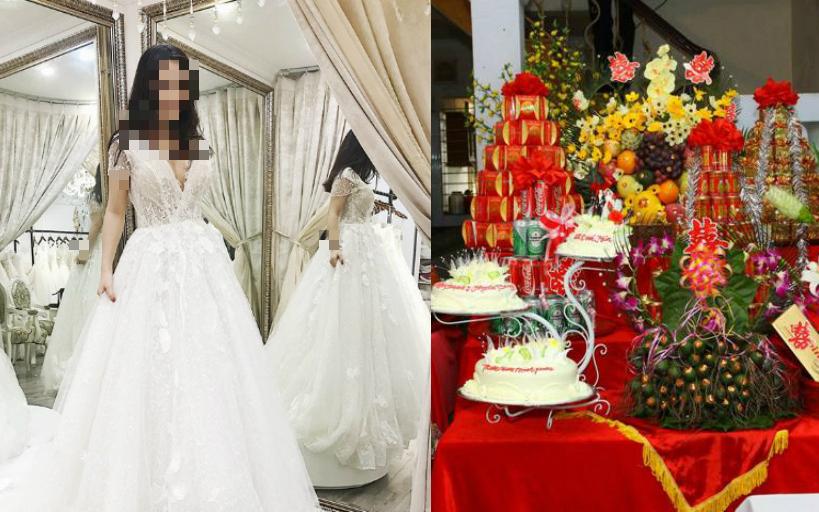 """Lấy được chồng """"xịn"""", đặt váy cưới gần trăm triệu nhưng ăn hỏi xong cô dâu lại đăng đàn """"pass lại với giá bằng cốc trà đá"""" vì lý do cười ra nước mắt"""