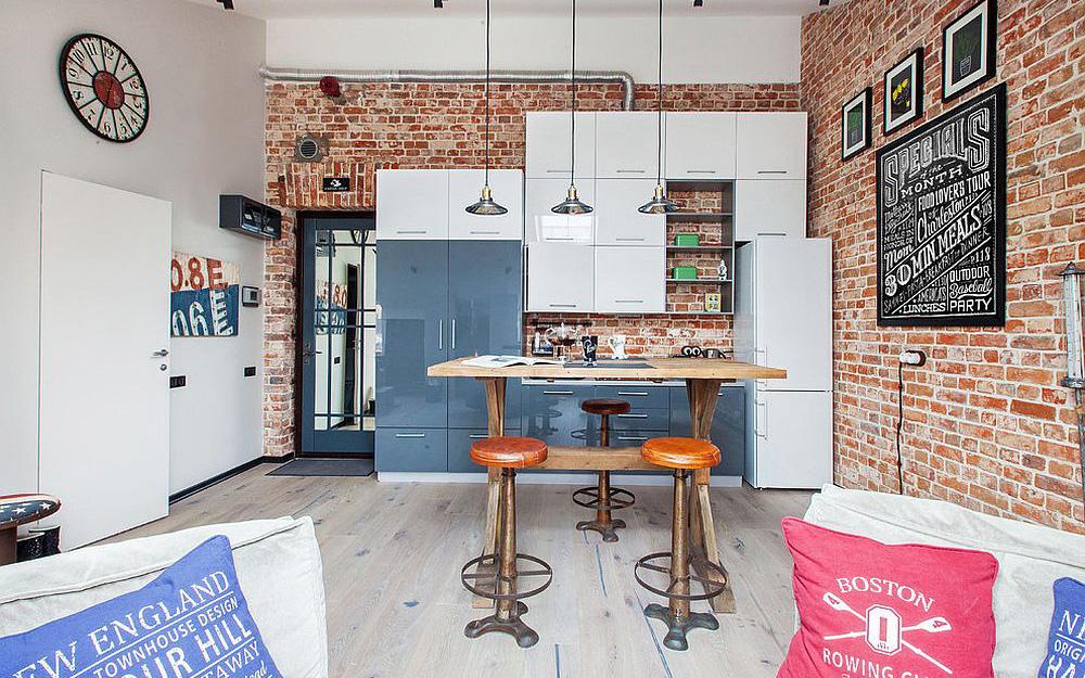 Những ý tưởng cho nhà bếp nhỏ sáng bừng trong không gian chật hẹp