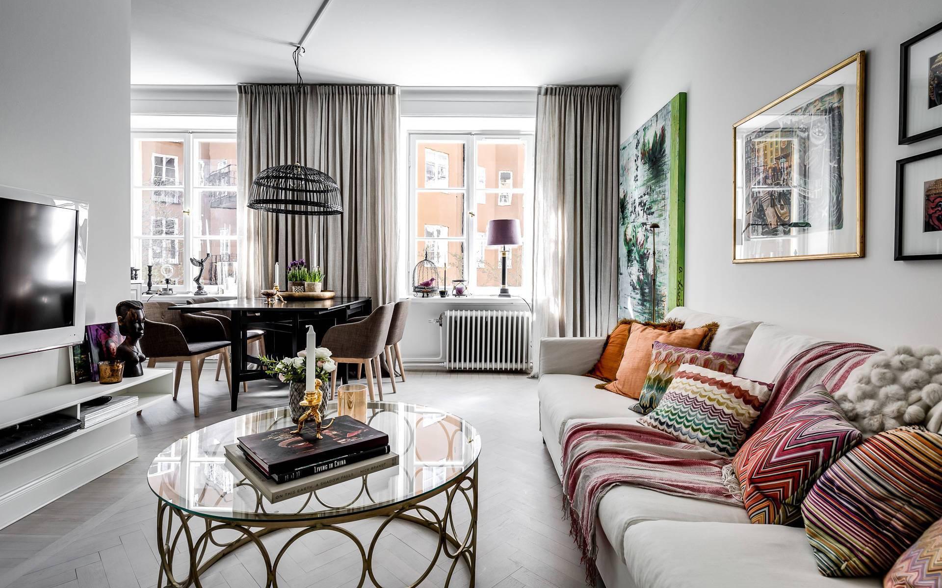 Căn hộ 55m² đẹp như một bức tranh nhờ kết hợp các đồ nội thất chuẩn chỉnh