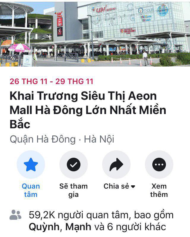 Chưa đến ngày khai trương, khu tổ hợp thương mại lớn nhất miền Bắc Aeon Mall Hà Đông đã thu hút sự chú ý của vô số cư dân mạng - Ảnh 1.