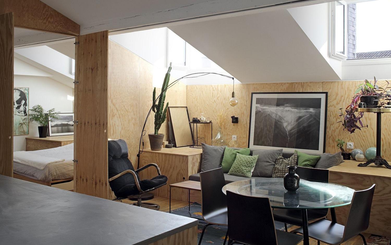 Căn hộ 50m² đẹp ấn tượng với giải pháp nới rộng không gian nhờ chất liệu gỗ