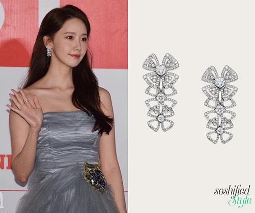 """2 mỹ nhân đẹp nhất thảm đỏ AAA 2019: Park Min Young dùng tay che ngực vì sợ """"lộ hàng"""", Yoona lại chịu chi với cây đồ trị giá cả tỉ đồng - Ảnh 10."""