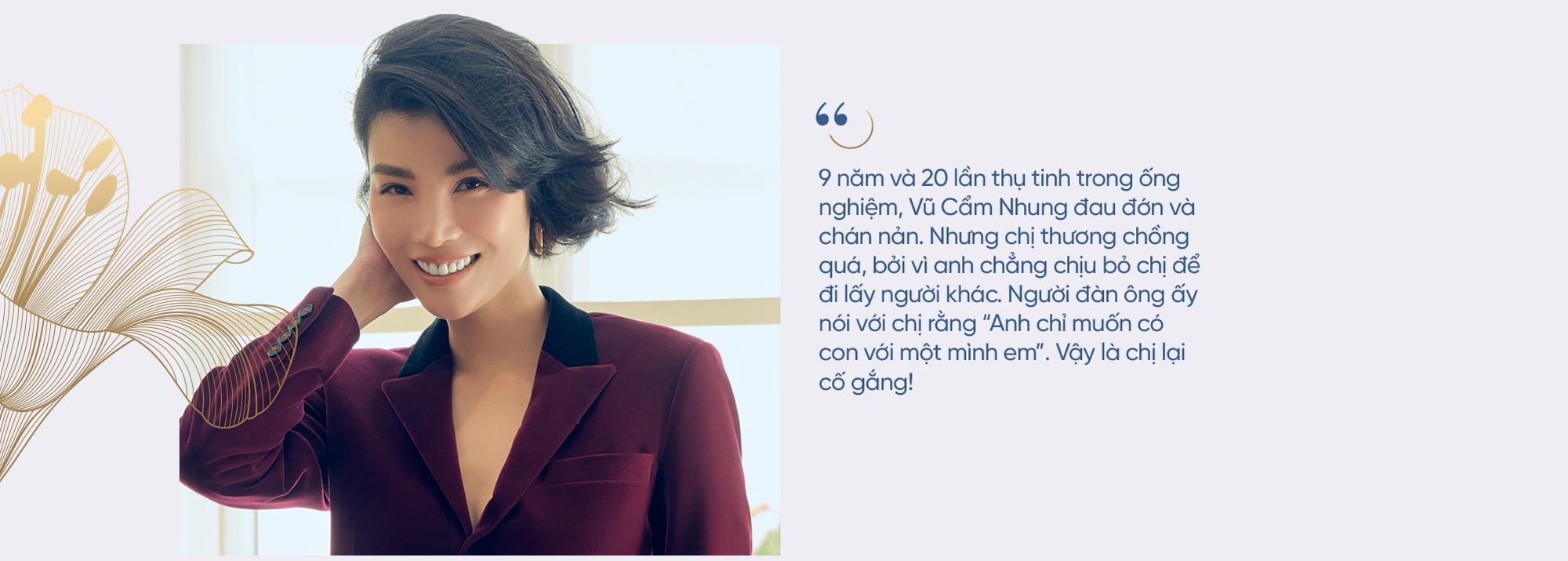 """Siêu mẫu đầu tiên của Việt Nam Vũ Cẩm Nhung: Người đàn bà thép trải qua 20 lần thụ tinh ống nghiệm để tìm con, hồi sinh sau trầm cảm để thành một """"tôi"""" tốt hơn - Ảnh 13."""