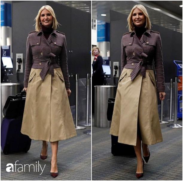 Ái nữ Tổng thống Trump biến sân bay thành sàn diễn khi diện set đồ sành điệu hơn 70 triệu đồng khoe eo thon dáng chuẩn - Ảnh 1.