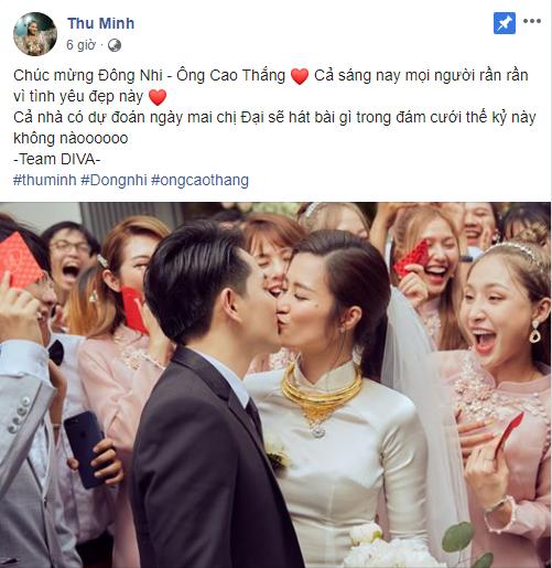 Dàn sao Việt xúc động chia sẻ cảm nghĩ khi Đông Nhi trở thành vợ Ông Cao Thắng sau 10 năm - Ảnh 5.