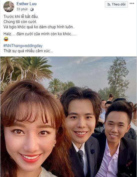 Phản ứng của dàn sao Việt trong giây phút Đông Nhi - Ông Cao Thắng nắm tay kết đôi vợ chồng: Ai cũng khóc như mưa, Noo Phước Thịnh, Ngô Kiến Huy dặn dò cẩn thận - Ảnh 7.