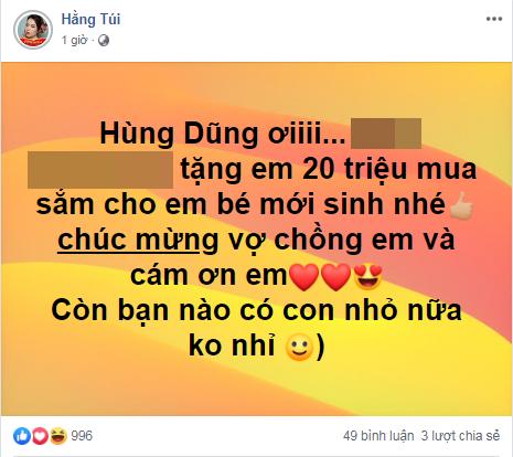 Việt Nam thắng đậm 3-0, hot mom Hằng Túi tuyên bố tặng 20 triệu đồ bỉm sữa cho con trai mới sinh của đội trưởng Hùng Dũng - Ảnh 2.