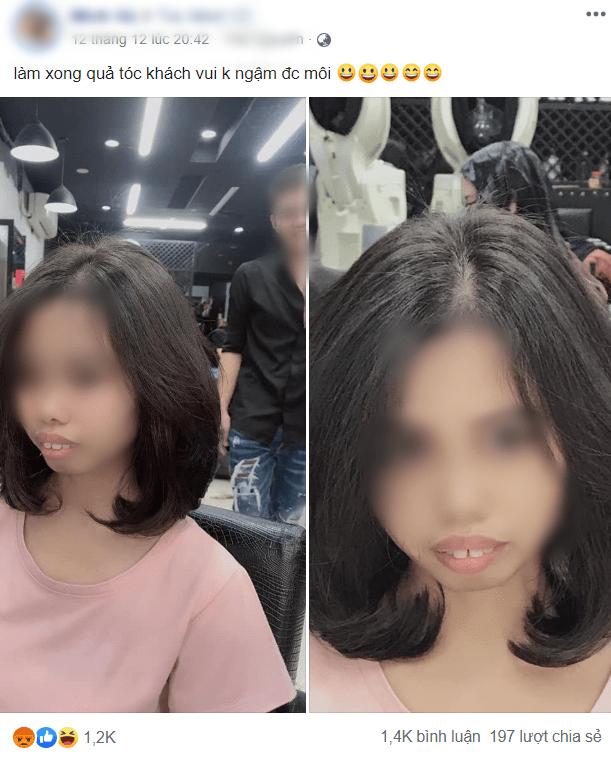 Tự ý đăng ảnh khách hàng cùng dòng chú thích vô duyên, chủ tiệm salon làm tóc khiến dân mạng phẫn nộ - Ảnh 1.