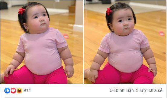 Cô bé 1 tuổi nặng nặng 16kg, người tròn ủm như chú lật đật khiến ai nấy đều ao ước sinh được 1 cô con gái - Ảnh 1.