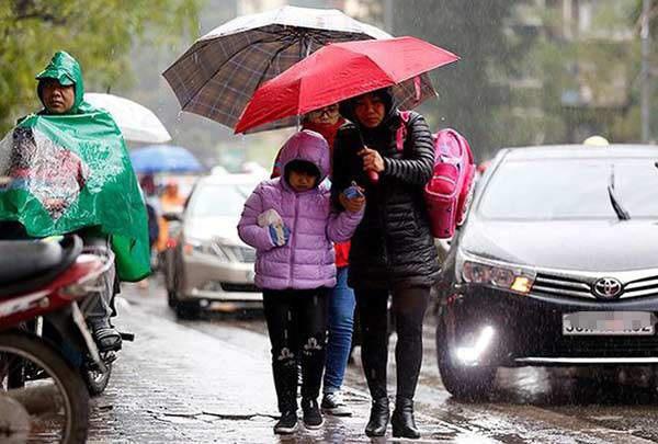 Chiều tối nay miền Bắc đón không khí lạnh tăng cường, Hà Nội chuyển mưa rét trong những ngày tới - Ảnh 1.