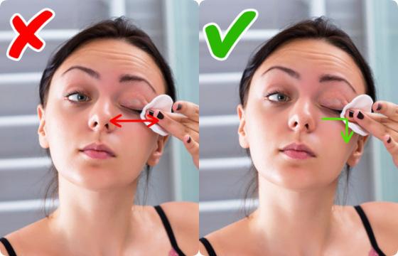 Tẩy trang cho vùng mắt: Phần lớn các chị em đều mắc phải sai lầm nghiêm trọng khiến mắt rõ quầng thâm, vết chân chim in hằn - Ảnh 3.