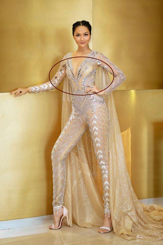 Hoa hậu H'Hen Niê mặc jumpsuit xuyên thấu: Sự chú ý của dân tình lại va ngay vào miếng lót ngực to lù lù - Ảnh 5.