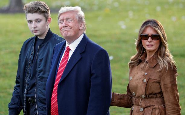 Tổng thống Mỹ chỉ nói đúng một câu về quý tử Barron Trump nhưng cũng đủ khiến người dùng mạng phát cuồng - Ảnh 1.