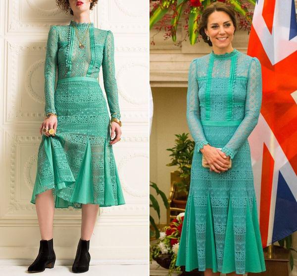 Để tránh tình huống hớ hênh khi mặc váy hở ngực, Công nương Kate khéo léo chỉnh sửa lại thiết kế trước khi diện - Ảnh 6.