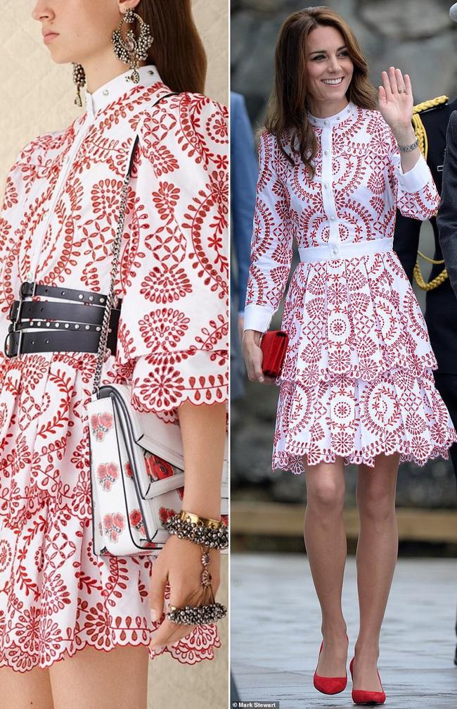 Để tránh tình huống hớ hênh khi mặc váy hở ngực, Công nương Kate khéo léo chỉnh sửa lại thiết kế trước khi diện - Ảnh 7.