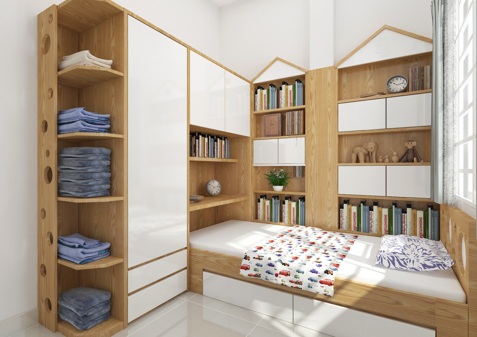 Tư vấn thiết kế căn hộ chung cư diện tích 56m2 với tổng chi phí 100 triệu đồng - Ảnh 10.