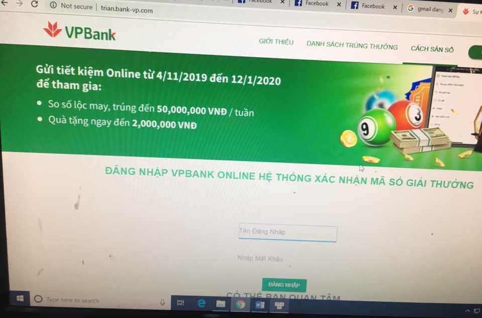 """2 phút, 18 giao dịch và 460 triệu bị """"ngân hàng"""" giả mạo VPBank lừa đảo - Ảnh 1."""