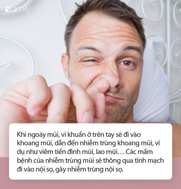 Bác sĩ cảnh báo: Thường xuyên ngoáy mũi phải chịu 3 hậu quả, thậm chí có thể mất mạng - Ảnh 1.