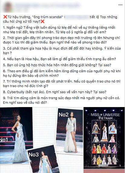 Rộ tin đồn câu hỏi ứng xử của chung kết Hoa hậu Hoàn vũ VN 2019 bị lộ trước giờ G, các thí sinh đều được chuẩn bị trước? - Ảnh 2.