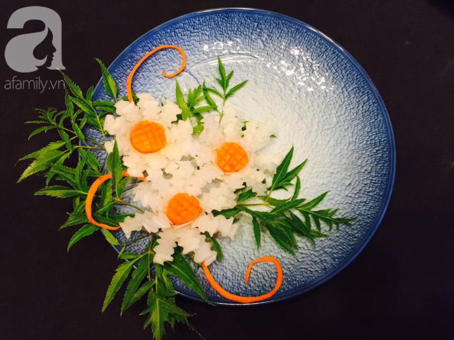 Biến củ cải trắng thành cúc họa mi đẹp tinh khiết với cách tỉa thật dễ dàng - Ảnh 1.