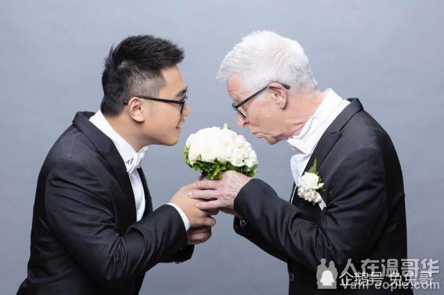 Chàng trai Đài Loan hạnh phúc kết hôn với cụ ông người Anh hơn mình 51 tuổi - Ảnh 1.