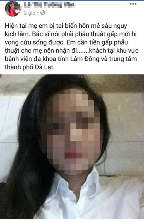 Thêm thông tin bóc mẽ sự thật vụ cô gái nhận đi khách lấy tiền phẫu thuật cho mẹ - Ảnh 1.