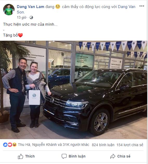 Mới sang Thái thi đấu hơn 1 tháng, Đặng Văn Lâm đã mua xe hơi tiền tỷ cho bố mẹ - Ảnh 1.