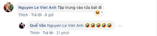 Sau khi bà xã đăng đàn đá xéo người bí ẩn, Việt Anh lại vô tư bình luận thân mật trên facebook Quế Vân - Ảnh 2.