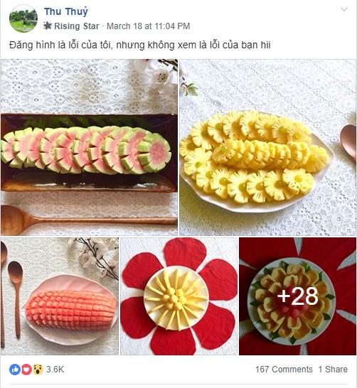 Lác mắt với những cách cắt xếp trái cây đẹp mê hồn của mẹ đảm Sài Gòn - Ảnh 1.