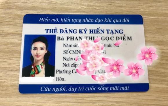 Hoa hậu Ngọc Diễm quyết định đăng ký hiến tạng  - Ảnh 1.