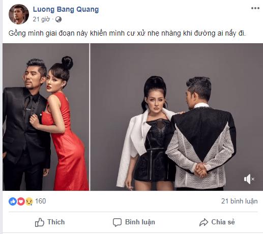 Lương Bằng Quang nói gì về nghi vấn chia tay Ngân 98, thẳng tay chặn luôn Facebook cho đỡ phiền? - Ảnh 2.