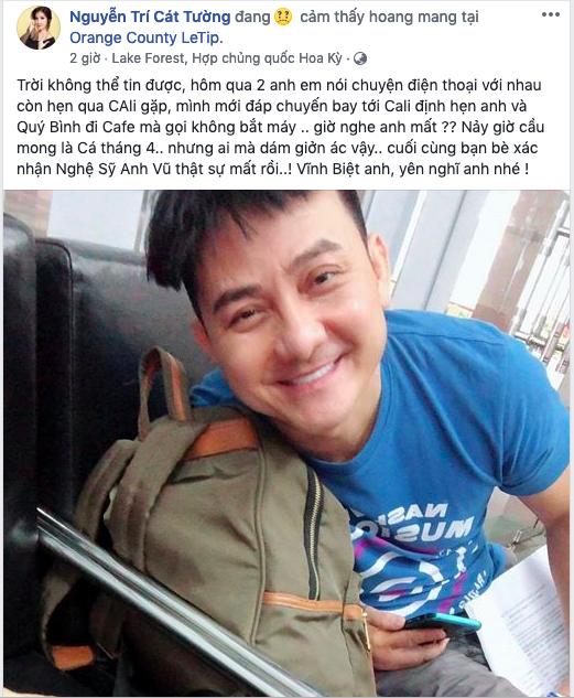 Ca sĩ Phương Thanh, Mai Phương cùng loạt nghệ sĩ Việt bàng hoàng trước tin diễn viên hài Anh Vũ qua đời ở tuổi 47 - Ảnh 5.