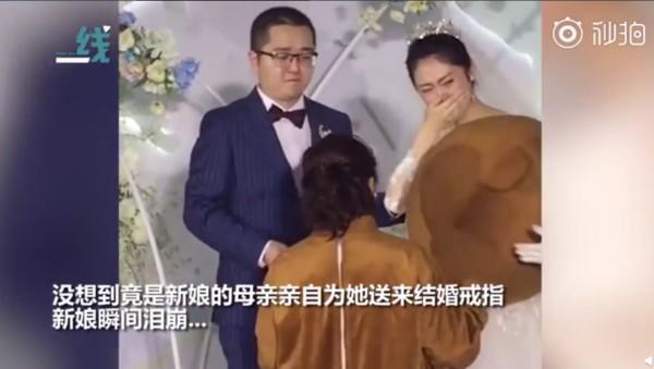Bất ngờ xuất hiện tại đám cưới mang theo hộp nhẫn, chú gấu bông vừa tiết lộ thân phận đã khiến cô dâu chú rể bật khóc ngay tại chỗ - Ảnh 3.