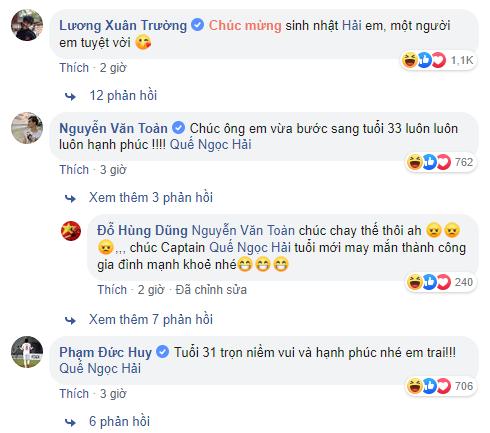 Tuyển Việt Nam nhao nhao chúc mừng sinh nhật Quế Ngọc Hải, dân mạng bỗng thấy có gì đó không đúng khi đọc bình luận - Ảnh 2.