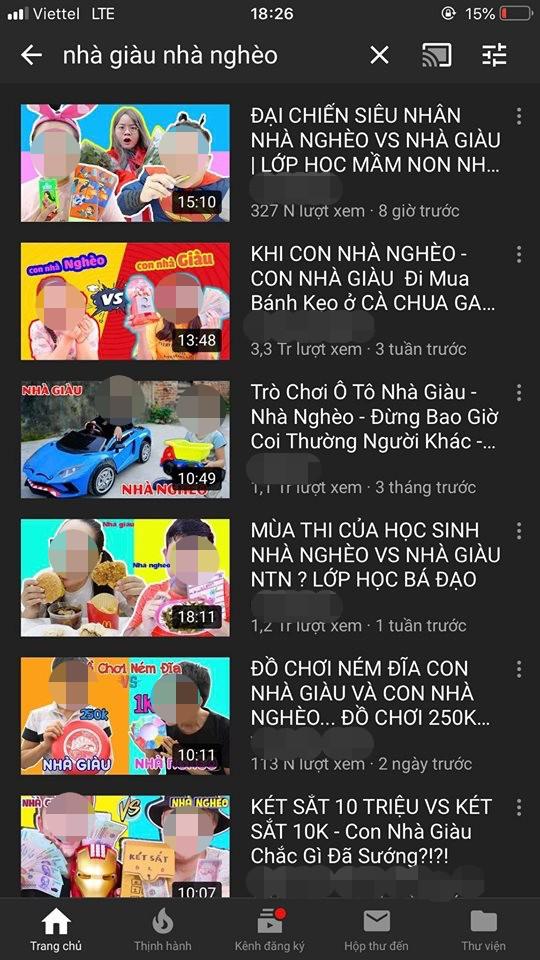 Xây dựng nội dung phản cảm phân biệt giàu - nghèo, loạt video triệu views của kênh Youtube kids bị lên án - Ảnh 3.