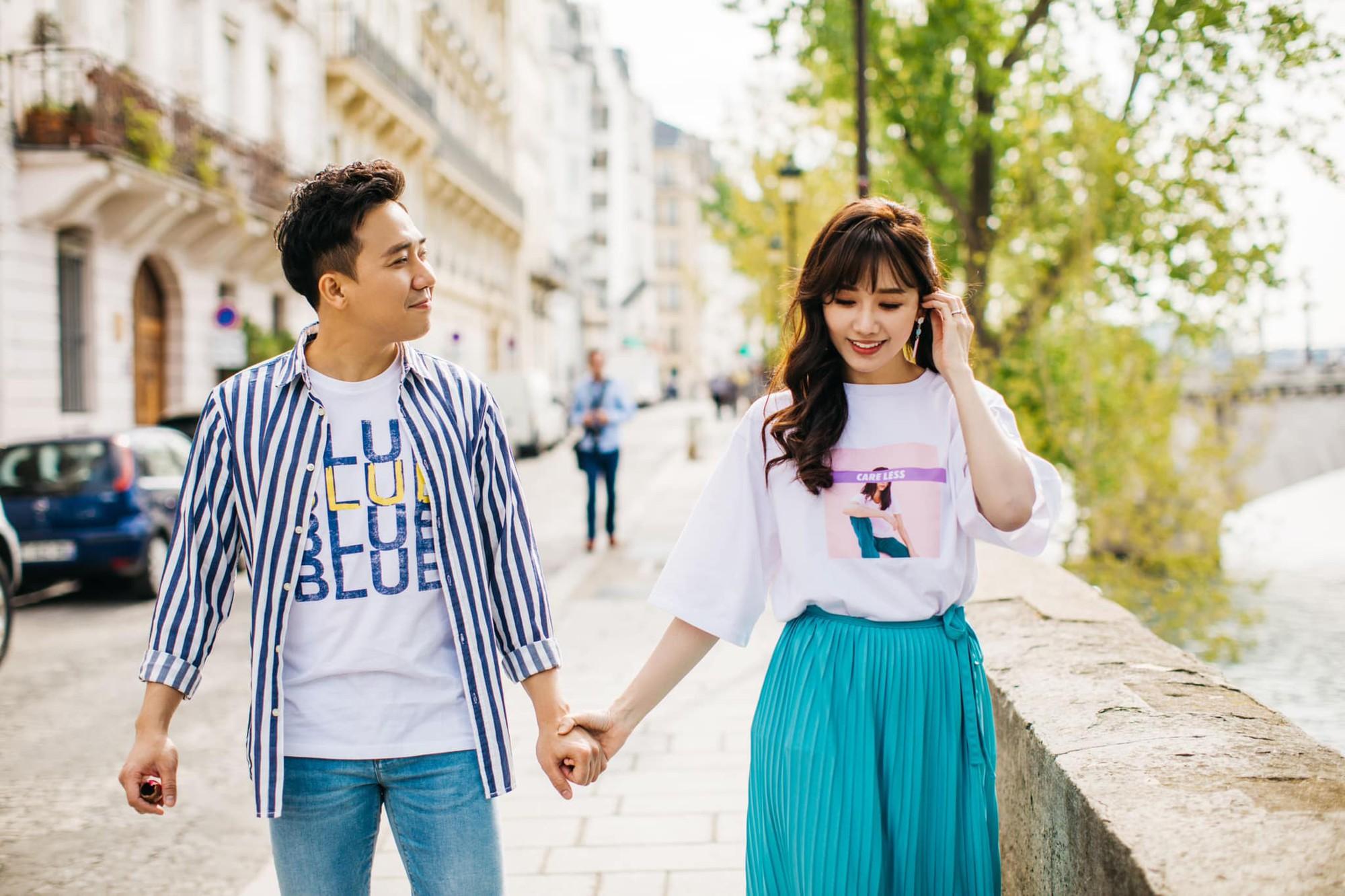 Ngắm trọn bộ ảnh đẹp như phim Hàn của Trấn Thành - Hari Won tại Paris hoa lệ - Ảnh 3.