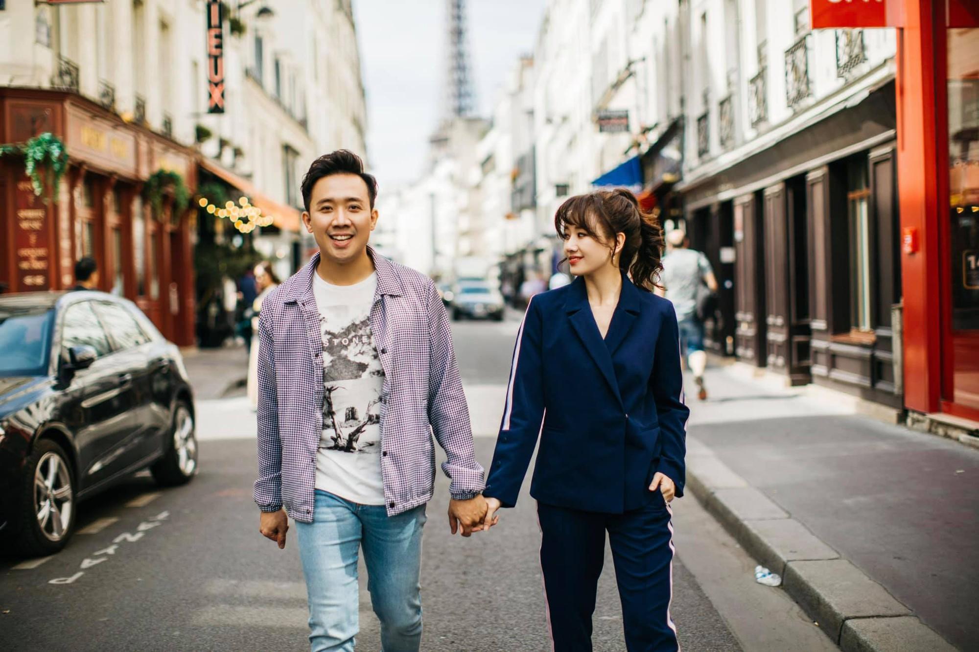 Ngắm trọn bộ ảnh đẹp như phim Hàn của Trấn Thành - Hari Won tại Paris hoa lệ - Ảnh 4.