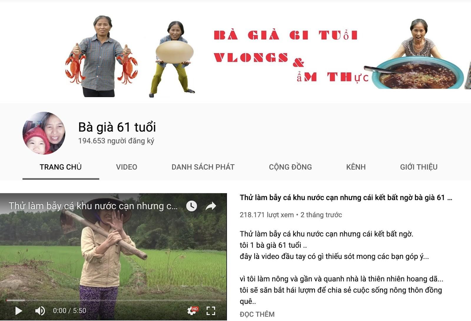 3 Vlogger ẩm thực có tuổi vẫn khiến giới trẻ chao đảo: Người tạo hiện tượng, người hút triệu view sau 2 tuần ra mắt - Ảnh 1.