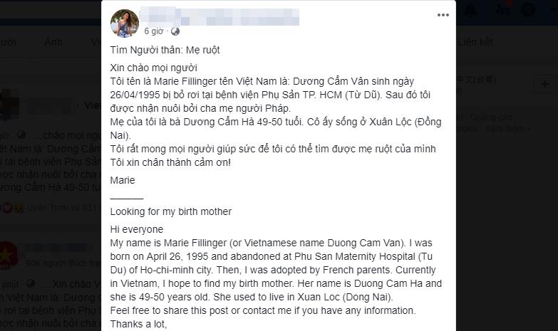 Xúc động câu chuyện cô gái gốc Việt về nước tìm mẹ ruột sau 24 năm bị bỏ rơi ở bệnh viện Từ Dũ - Ảnh 2.